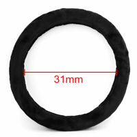 Black Soft Exquisite Faux Fur Universal Steering Wheel Cover For Auto Car