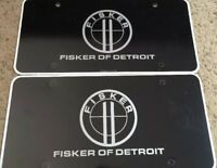 Set of 2 Fisker of Detroit License Plate Insert
