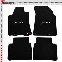 Universal Fits 13-16 Nissan Altima Black Nylon Floor Mats Carpets 4PCS Full Set
