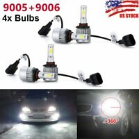 9005+9006 Combo LED Headlights High&Low Beam 6000K White 55W 8000LM Wholesale