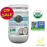 Organic Extra Virgin Coconut Oil Cold Pressed for Skin & Hair Care 14 Ounce, NEW