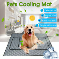 Pet Dog Cooling Mat Non-Toxic Cool Pad Pet Bed For Summer Dog Cat Puppy M/L/XL