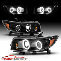 [Dual LED Halo]For 2008 2009 2010 Scion Xb Projector Black HeadLights Pair