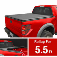 JDMSPEED Roll Up Truck Bed Tonneau Cover For 2015-2018 Ford F150 5.5ft Short Bed