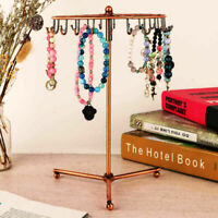 Jewelry Earrings Necklace Tree Rotating Display Holder Stand Rack Ring Organizer