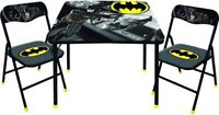 BatMan New Kids Table and 2 Chairs Set -Toddler and Child Desk New