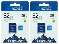 32GB Micro SD Trekshot Memory Card (2 Pack) for Samsung Galaxy S9 S8 Note 8 S7