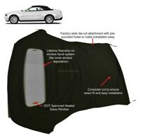 Ford Mustang 05-14 Convertible Soft Top & Defroster glass window Black Sailcloth