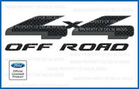 Ford 4x4 Off Road Decals - FCFB - carbon fiber black stickers truck bed side