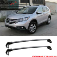Fits 12-16 Honda CRV OE Factory Style Roof Rack Cross Bar Black Polish 2Pc