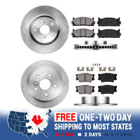 Front And Rear Brake Rotors & Ceramic Pads For ES300h ES350 TOYOTA AVALON CAMRY