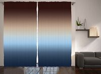 Home Furnishings Natural Modern Decor Ombre Art Image Print Curtain 2 Panel Set