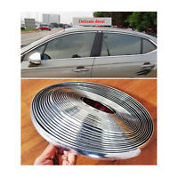 Car Bright Silver Chrome Moulding Trim Bumper Strips 18mm x 39ft Adhesive Set