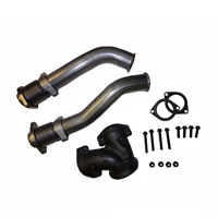 Bellowed Up Pipe Kit 1999-2003 Ford 7.3L Powerstroke  Diesel with Hardware.