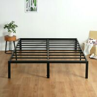SLEEPLACE 14 inch Tall Metal Frame & Slat Foundation Bed Frame SP3000, Sturdy