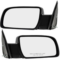 GMC Chevrolet Pickup Truck SUV Set of Side View Manual Mirrors w/ Metal Bases