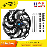 14inch Universal Slim Pull Push Racing Electric Radiator Cooling Fan 2550cfm 12V