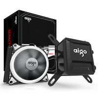 Aigo Liquid CPU Cooler 120mm Radiator All-In-One LED Fan Water Cooling System