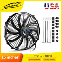 1x16'' 3000cfm Push Pull Electric Radiator Cooling Fan Hot Rod Truck Reversible