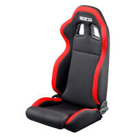 Sparco Street R100 Red Black Cloth Seat - 00961NRRS - FREE SHIPPING