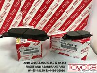 LEXUS OEM FACTORY FRONT AND REAR BRAKE PAD SET 2010-2015 RX350 RX450H