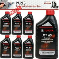 7 Quart GENUINE TOYOTA ATF WS Automatic Transmission oil Fluid ATFWS Lexus Scion