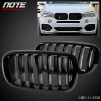 For 2014 - 2016 BMW X5 F15 Left & Right Gloss Black Front Kidney Grille Grill