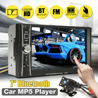 Car Stereo Radio Bluetooth Audio Receiver Double 2Din 7