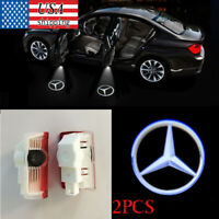For Mercedes Benz 2× Welcome Car LED Door Projector Logo Ghost Shadow Light