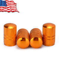 4PCS Red Aluminum Alloy Car Truck SUV Wheel Tire Air Valve Caps Stem Covers US
