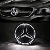 Car Front Illuminated LED Grille Logo Emblem Badge Light For 11-15 Mercedes Benz