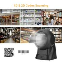 High Precision 2D 1D Desktop USB Barcode Scanner Label QR Code Reader for POS AM