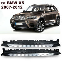For 2007-2012 BMW X5 E70 Aluminum Side Step Bars Running Boards Pair Silver