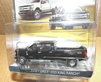 Greenlight 2018 Ford F-350 King Ranch Shadow Black truck Exclusive dual wheels