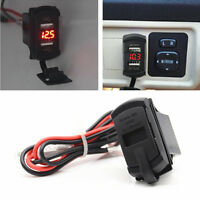 Car 12 V Voltmeter Marine Boat/Home Dual USB Charger Red Universal Waterproof