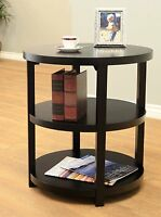 New Frenchi Home Furnishing Newbury Round living room Table, Black  Color