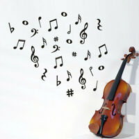 Music Notes Wall Sticker Art Vinyl Mural Stickers Bedroom Home Decoration Supply