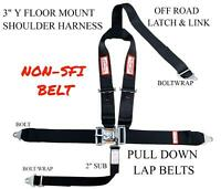 Y SAFETY HARNESS 5 POINT NON-SFI  RACING LATCH & LINK 3