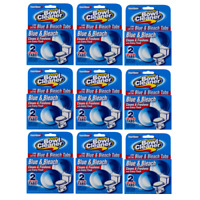 16 Tabs Power House Automatic Toilet Bowl Cleaner Blue & Bleach (Total 8 Packs)