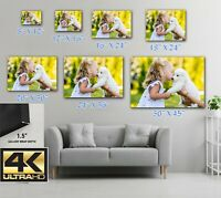 Custom Canvas Print Personalized Photo Picture to Canvas ULTRA HD Print Wall Art