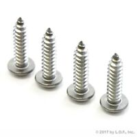 Stainless Steel License Plate Screws Car Truck Rust Free Fasteners New 4 pc Set