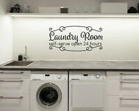 LAUNDRY ROOM SELF SERVE RusticFarmhouse Home Wall Decal Words Decor Sticker