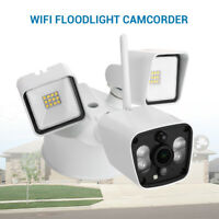 HD 1080P WiFi LED Floodlight Camera Security Cam Two way Audio Waterproof IP55