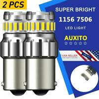 AUXITO 7506 LED 1156 Ba15s P21W 100W 6K WHITE Backup Reverse Light Bulb 2400LM E