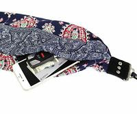 Scarf Camera Strap with Hidden Pocket ~ (Bluebell)