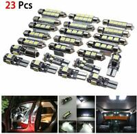 23pc LED White Car Light Bulb Interior Map Dome Trunk License Plate Lamps Kit US