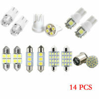 14x Auto Car Interior Package Map Dome License Plate Mixed LED Light Accessories