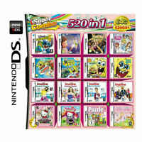 520 in 1 Games Card Cartridge For Nintendo NDS NDSL 2DS 3DS NDSI Game Consoles