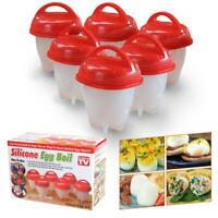 6pcs Egglettes Eggs Cooker Hard Boiled Egg with no Shell Eggies -- As Seen on TV