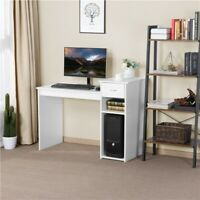 Wood Computer Desk PC Laptop Table Study Workstation Home Office Furniture White